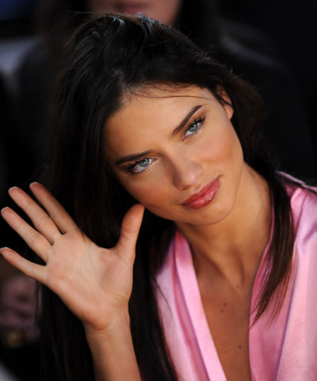 Supermodel Adriana Lima Gets Prepared Backstage Before The Victorias Secret 2010 Fashion Show