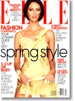 Supermodels online com christy turlington for Elle magazine this month