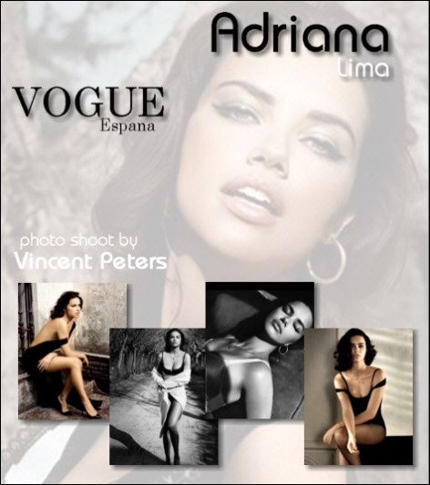 Adriana Lima's Vogue photo shoot